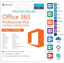 Office 365 2019 Pro Lifetime Activate Account 5 PCs Win Mac 5 T Cloud INSTANT