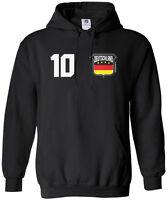 Threadrock Men's Team Deutschland Soccer Hoodie Sweatshirt Germany Flag