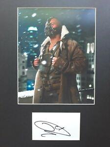 "TOM HARDY  AUTOGRAPH SIGNED CARD ( 10""X8"" PHOTO) *BANE /THE DARK KNIGHT * COA 55"
