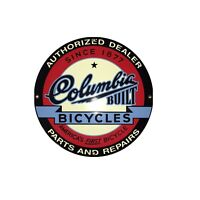 "Columbia Bicycles Authorized Dealer Porcelain Sign 11"" Runkel Bro's. Garage USA"