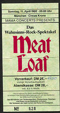 Original 1982 Meat Loaf Concert Ticket Stub Munich Dead Ringer Bat Out Of Hell