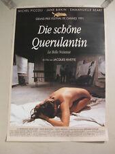 DIE SCHÖNE QUERULANTIN - Poster Plakat Filmplakat gerollt - JAQUES RIVETTE