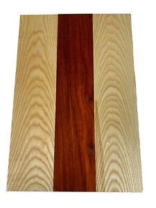 Beautiful Ash & Padauk Electric Guitar Body Blank, 3 Piece Glued Solid Body