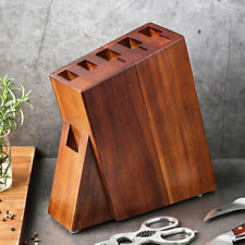 Six hole Knife Holder Storage Kitchen Simple Space Saving Wood Accessories Tools
