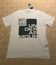 Under Armour Men's Heatgear Logo T-shirt White Size Xl New with tag