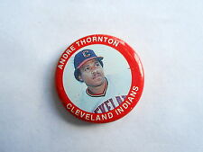 Vintage 1984 Andre Thornton Cleveland Indians Fun Food #125 MLB Baseball Pinback