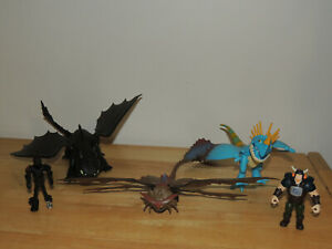 How to Train Your Dragon Deadly Nadder Toothless Night Fury Cloud Jumper Lot!