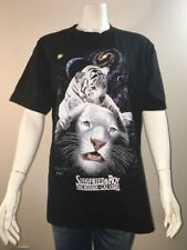 Siegfried & Roy The Mirage Las Vegas T Shirt Tee Adult SZ Large Space Galaxy