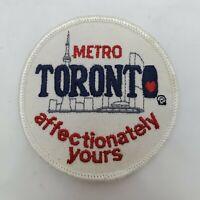 Metro Toronto Canada Round Souvenir Patch