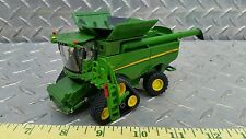 1/64 ERTL custom John deere S690 authentic combine with tracks w/head farm toy