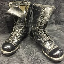 VTG CORCORAN MILITARY USA BLACK LEATHER LACE UP ENGINEER ARMY COMBAT BOOTS 8 D