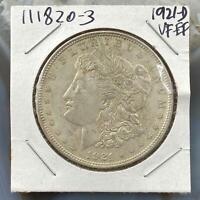 1921-D US Morgan Silver Dollar $1 90% US Collectible Coin VF-EF #111820-3