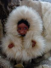 Eskimopuppe muñeca inuit esquimal chica Alaska 60er True vintage 70s Groenlandia