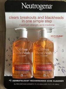 Neutrogena Oil-Free Acne Wash 9.10 oz (Pack of 2)