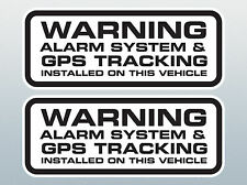 PAIR Vehicle ALARM AND GPS TRACKING STICKER / GPS TRACKER FITTED DECAL