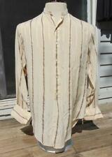 MENS EDWARDIAN 1910S SHIRTEX ECRU SILK SHIRT 39 chest