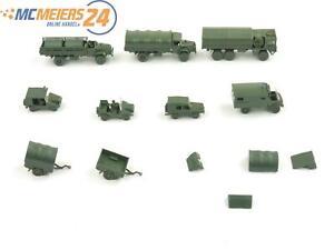 E210 Roskopf RMM H0 9x Militärfahrzeug Unimog PKW LKW Anhänger