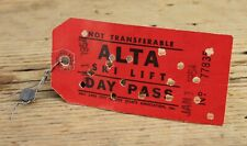 Vintage Alta Ski Lift Day Pass Dated New Years Day 1954