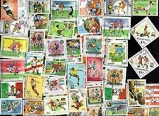 100 DIFFERENT WORLD CUP SOCCER  ON STAMPS