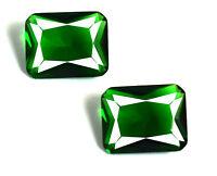 Green Garnet Gemstone 4.90 Ct Emerald Cut Matching Pair 100% Natural Certified