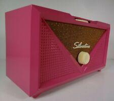 Iconic 1954 Silvertone Model 3001 Radio Hot Pink Repaint Working