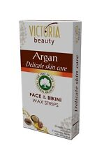 Hair Removal Strips Victoria Beauty for Face and Bikini with Argan Oil -20strips