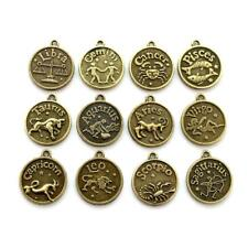 SET OF 12 WESTERN ZODIAC CHARMS 0.7