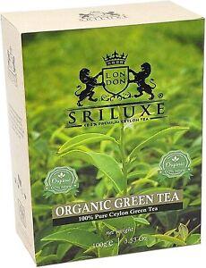Finest Organic Loose Leaf Green Tea By SRILUXE | Premium Ceylon Tea | 100g