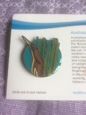 Not RSPB Birdlife Australia Pin Badge Australasian Bittern