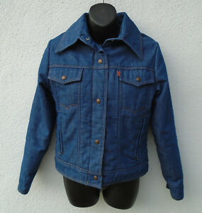 KILLER Vintage 1970s Orange Tab SKI LEVIS Blue Denim Winter Jacket Size 9/10