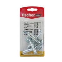 Fischer tasselli in acciaio SBS 9/2 con gancio 4PZ x murature piene forate 04472