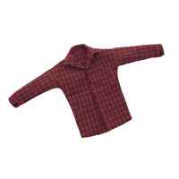 1/6 Female Body Long Sleeve Plaid Shirt Red for 12'' Phicen Action Figures