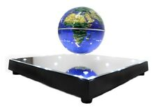 Magnetic Levitation Floating Mirror LED Platform World Globe Desktop Display New