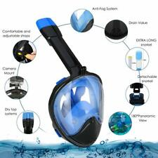 Snorkel Mask Full Face 180° Panoramic Sea View Anti-Fog Anti-Leak Snorkeling Mas