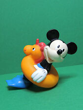 Mickey APPLAUSE Figurine avec boué jouet de bain ancien Disney bath toy