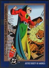 Martin Mart Nodell SIGNED 1991 DC Golden Age Green Lantern Art Card Alan Scott