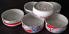 BUDWEISER COASTER SET SHAPED AS A PLATIC CAN.