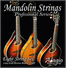 More details for mandolin string set bronze wound (light, .010 - .034 loop ends) - adagio pro