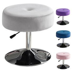 Velvet Dressing Table Vanity Stool Lift Chair Seat Adjustable Height 360° Swivel