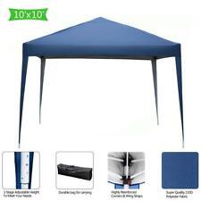 10'X10' Pop Up Gazebo Wedding Tent Patio Canopy Awning W/ Carry Bag Blue Us