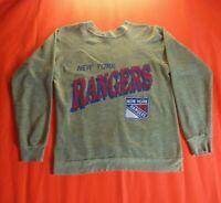 New York Rangers NHL Vintage 90s 50/50 Single Stitch Signal Sweatshirt Size L