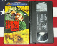 Scream and Scream Again (VHS, 1970) Vincent Price, Christopher Lee Peter Cushing