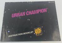 URBAN CHAMPION (Nintendo NES) Original Instruction Manual