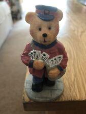 SUPER CUTE MAILMAN POSTMAN TEDDY BEAR FIGURINE ORNAMENT