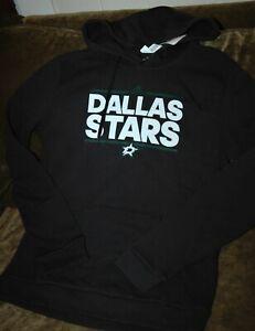 Dallas Stars hoodie sweatshirt women's medium Adidas NHL winter gear black