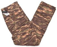 Ecko Unltd Mens Brown Tiger Camo Pocket Slim Fit Casual Twill Cargo Pants