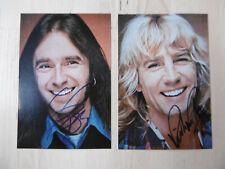 """Francis Rossi & Rick Parfitt """"Status Quo"""" Autogramme signed 10x15 cm Bilder"""