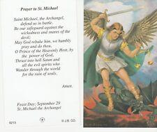 CATHOLIC HOLY CARD    PRAYER TO ST. MICHAEL STYLE 3