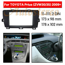 2Din Car Stereo Radio Fascia Panel Audio Frame For 2009+ Toyota Prius Left Wheel