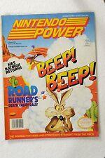 Dec Vol 43 Nintendo Power Magazine W/poster + Cards Road Runner's